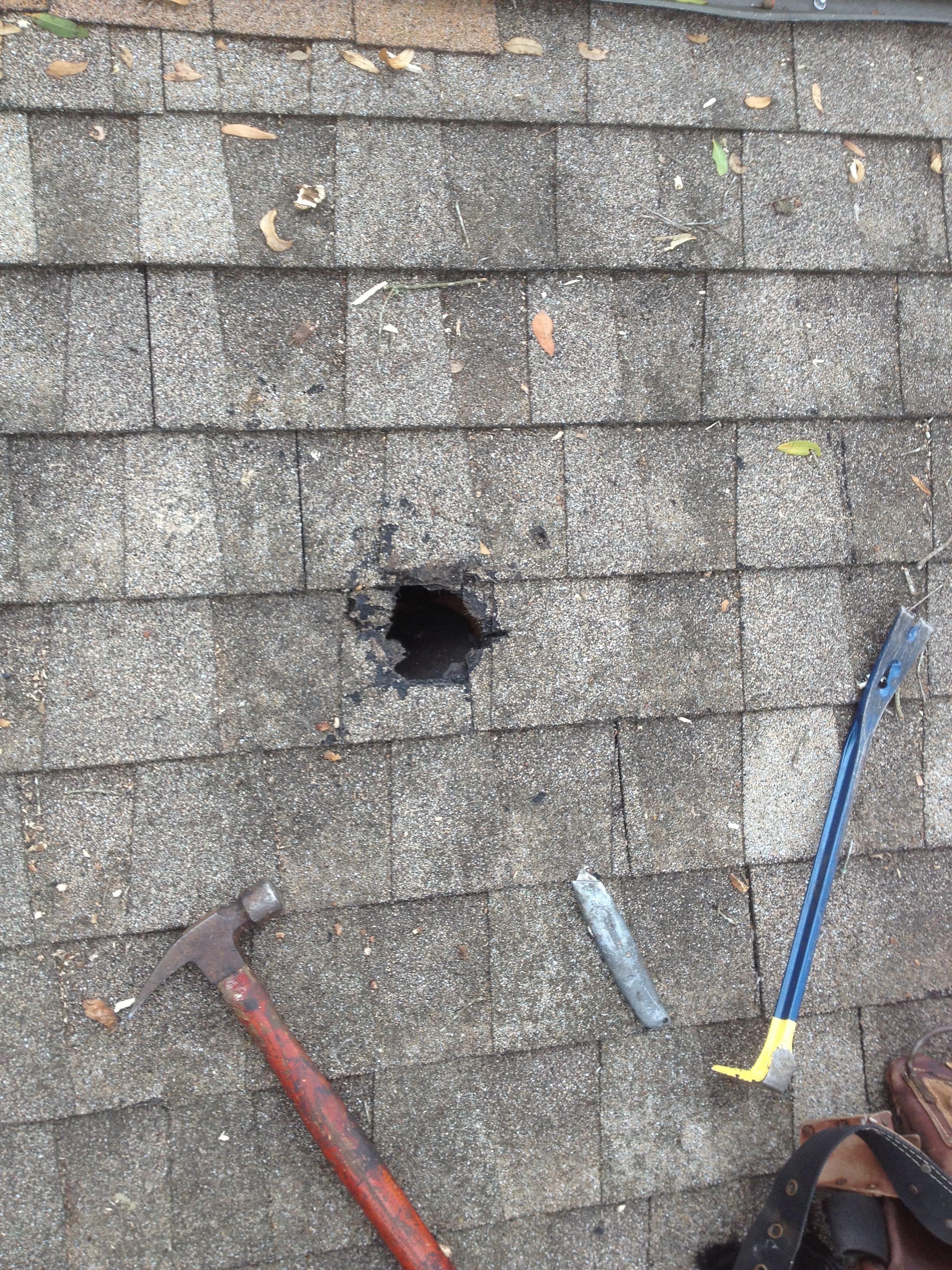 Hole In Roof September 2017 Broofing