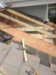SO WE HAVE TO INSTALL NEW PRESSURE TREATED LUMBER