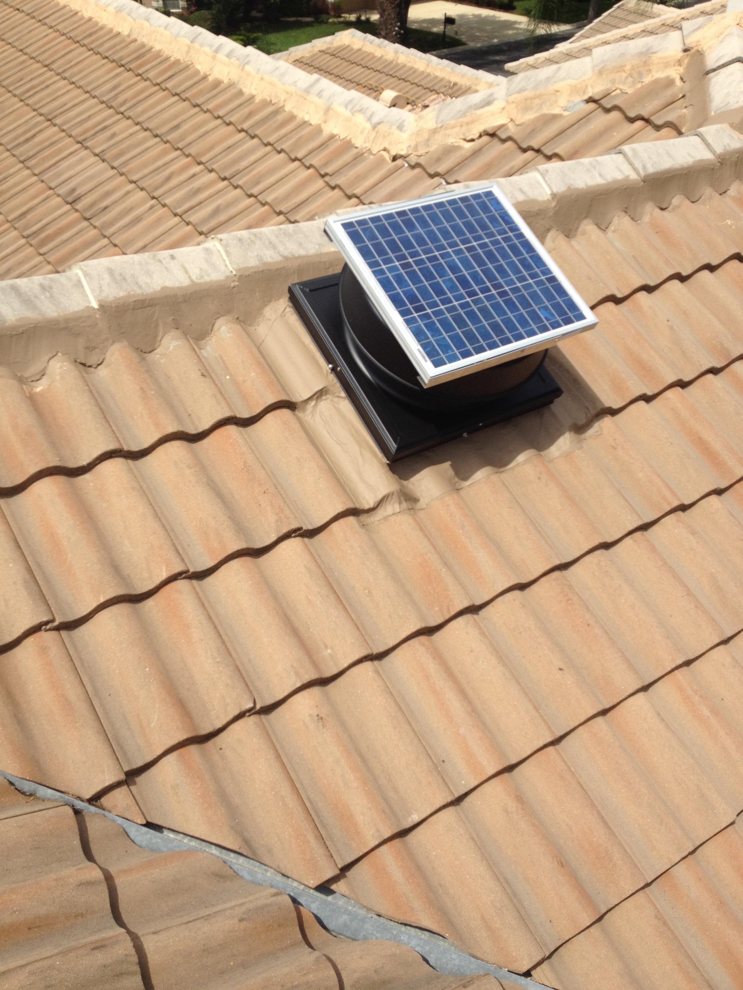 Solar Vent Installed On Tile Roof Bcoxroofing Com