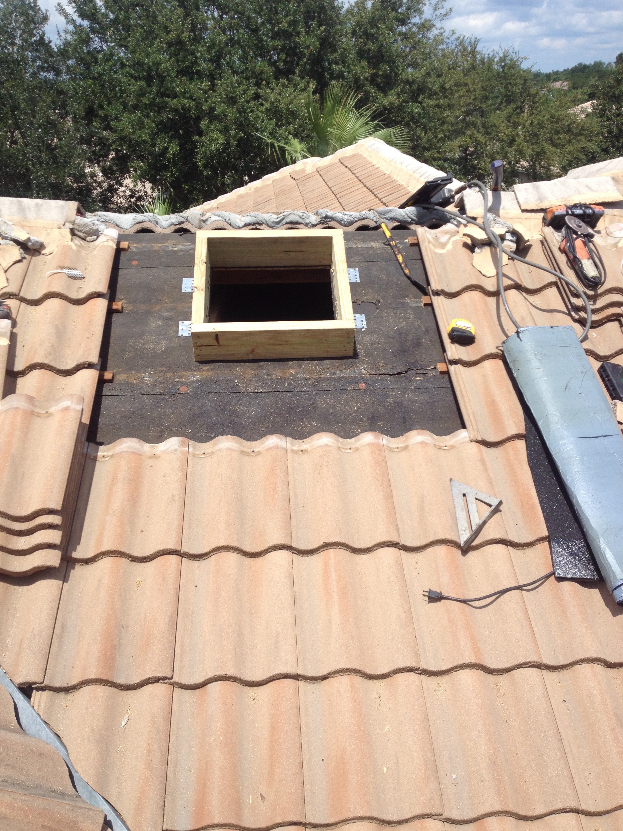 Solar Vent Installed On Tile Roof Bcoxroofing Com
