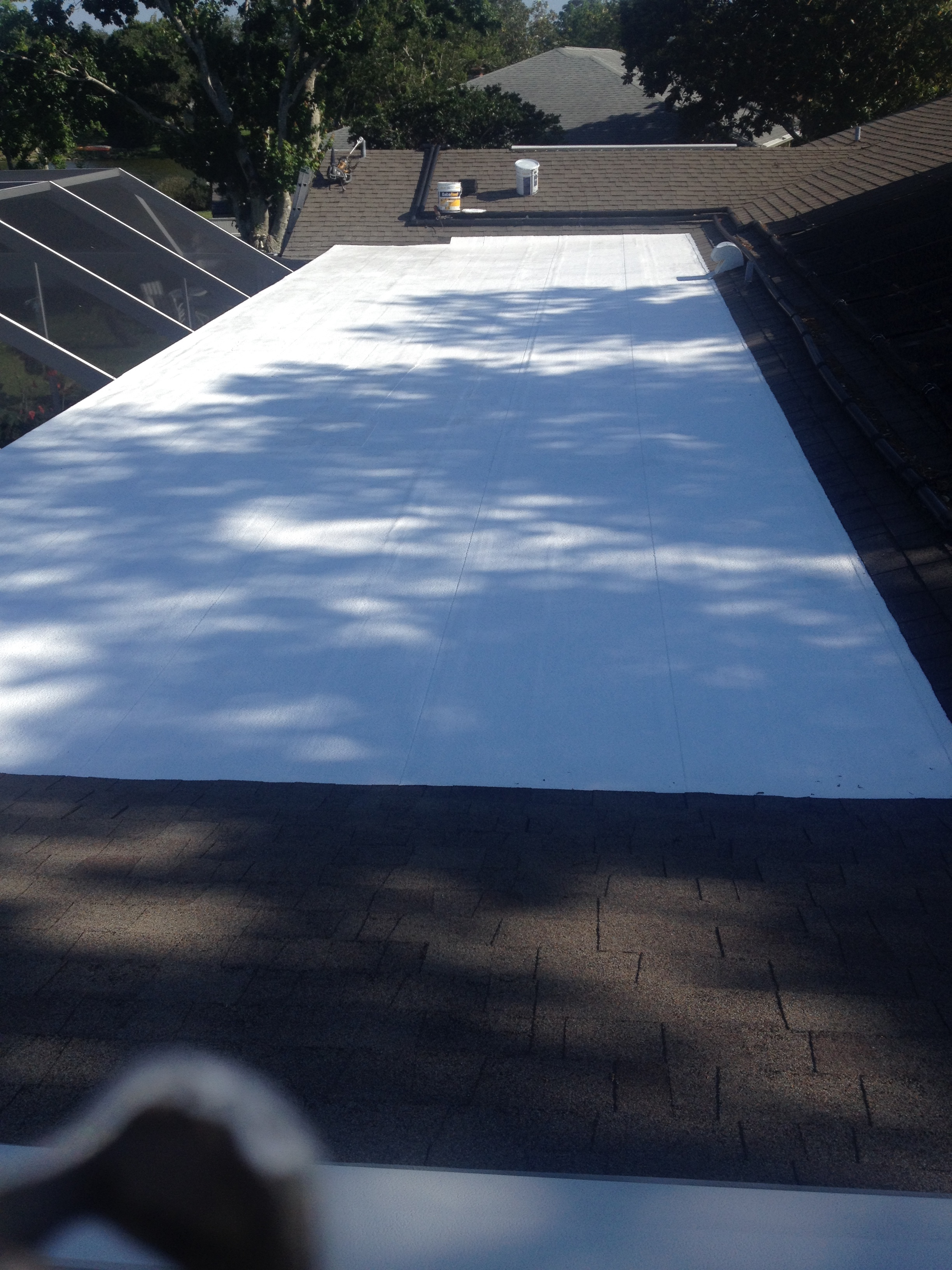 These Are Before And After Photos Of A Low Slope Roof That Was Covered With  A Gaco Products.