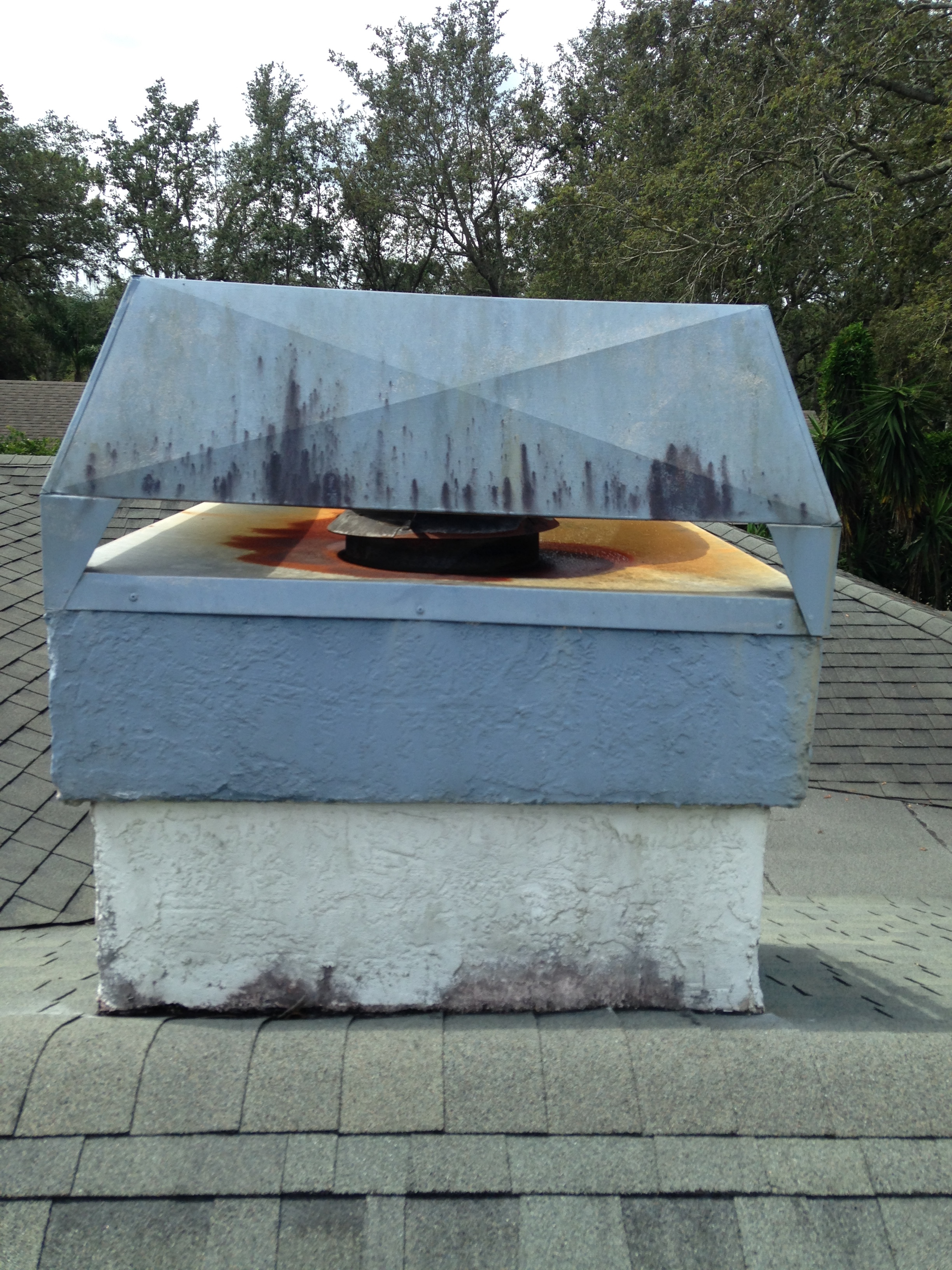 Old Rusty Leaky Chimney Cap Replaced Bcoxroofing Com